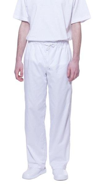 3ae0dbe8314655 Spodnie białe na gumkę, wciągane, zgodne z HACCP, odzież robocza do ...