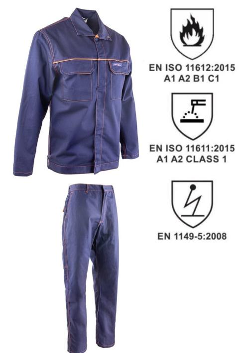 04bf692066 Ubranie antyelektrostatyczne trudnopalne bluza + spodnie do pasa